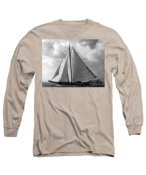 Long Sleeve T-Shirt featuring the photograph Sail By by Luc Van de Steeg