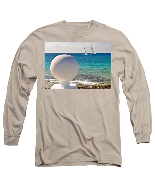 Sailboats Racing In Cozumel Long Sleeve T-Shirt by Mitchell R Grosky