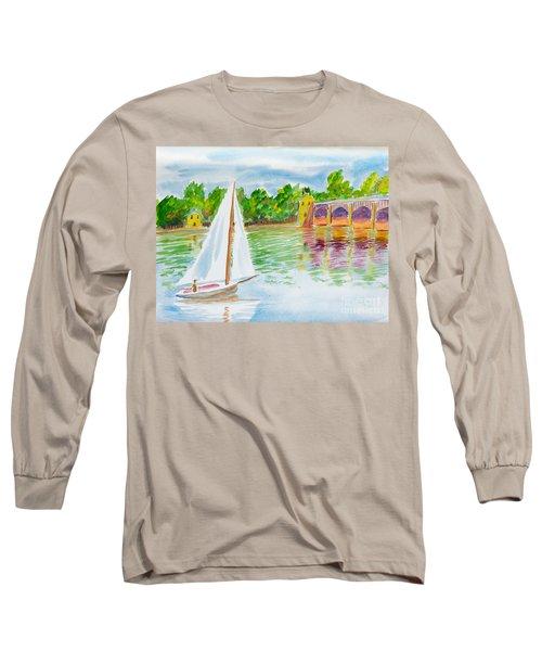 Sailing By The Bridge Long Sleeve T-Shirt