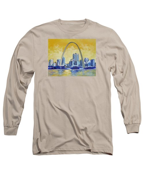 Saint Louis Skyline 1 Long Sleeve T-Shirt by Irek Szelag