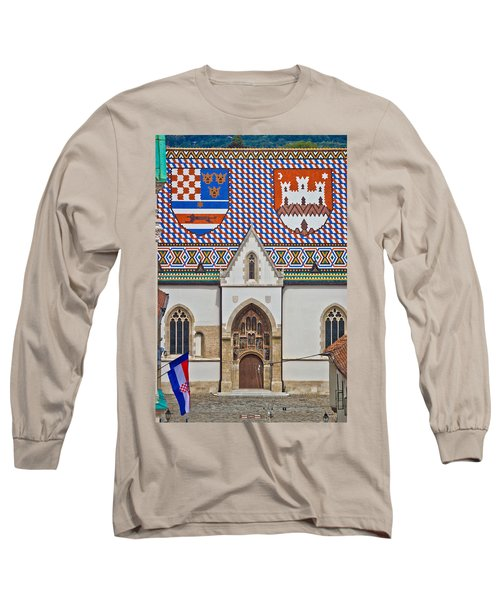 Saint Mark Church Facade Vertical View Long Sleeve T-Shirt