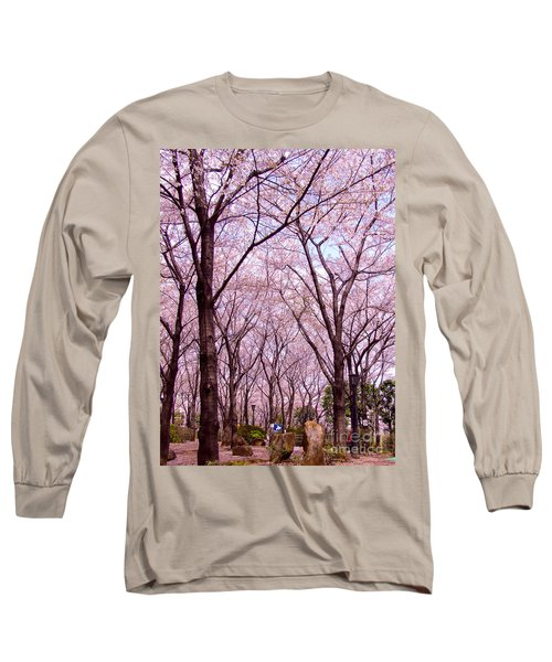 Long Sleeve T-Shirt featuring the photograph Sakura Tree by Andrea Anderegg