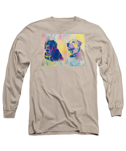 Sammy And Toby Long Sleeve T-Shirt by Judy Via-Wolff