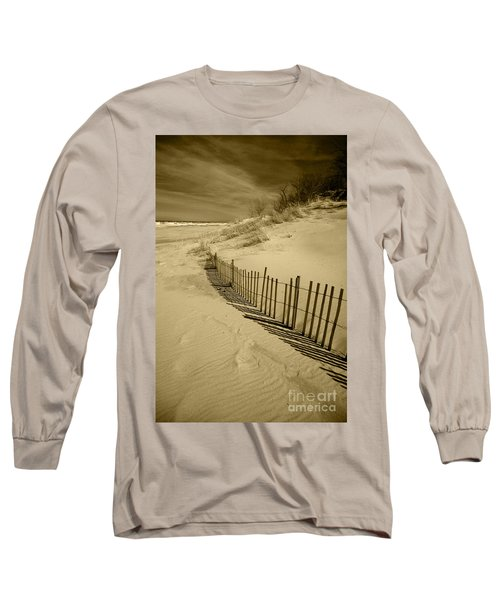 Sand Dunes And Fence Long Sleeve T-Shirt