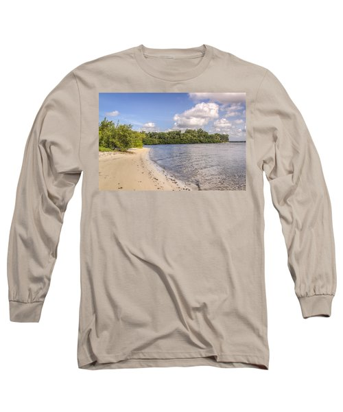 Long Sleeve T-Shirt featuring the photograph Sandy Beach by Jane Luxton