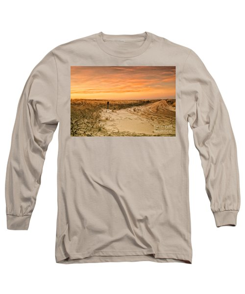 Sandy Road Leading To The Beach Long Sleeve T-Shirt
