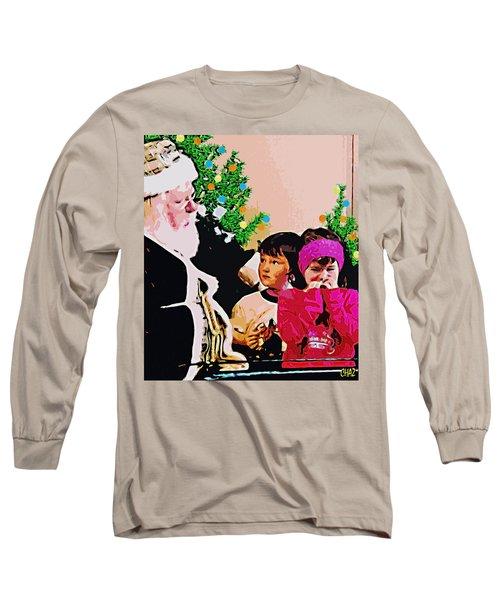Santa And The Kids Long Sleeve T-Shirt