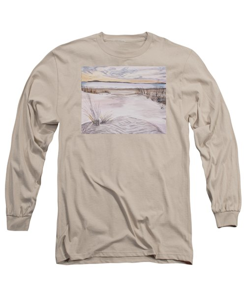 Long Sleeve T-Shirt featuring the painting Santa Cruz Sunset by Ian Donley