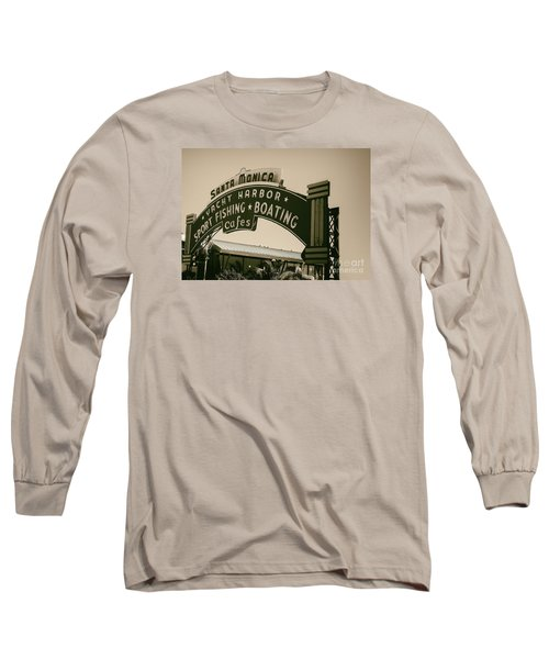 Santa Monica Pier Sign Long Sleeve T-Shirt