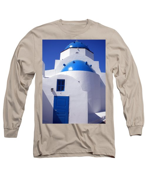 Long Sleeve T-Shirt featuring the photograph Santorini Church  by Colette V Hera  Guggenheim