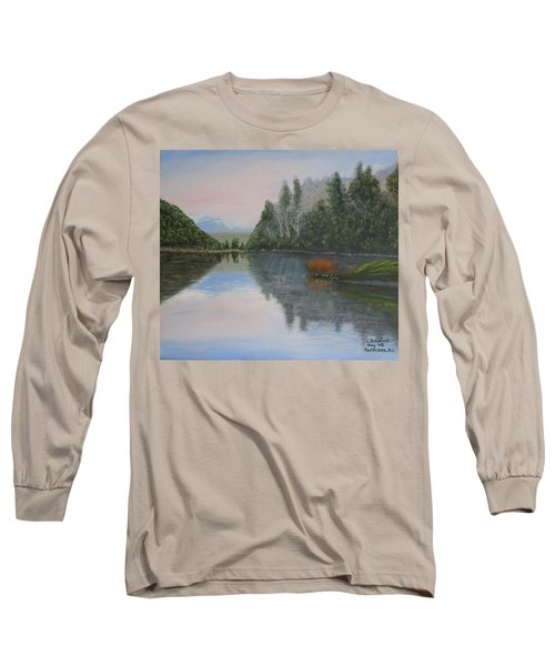Sarita Lake On Vancouver Island Long Sleeve T-Shirt