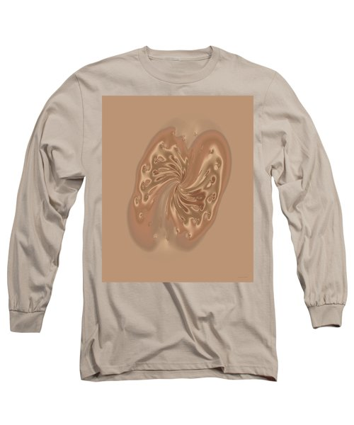 Satin Butterfly Long Sleeve T-Shirt