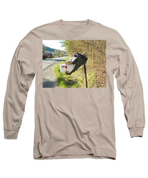 Long Sleeve T-Shirt featuring the photograph Scary Mailbox by Sherman Perry
