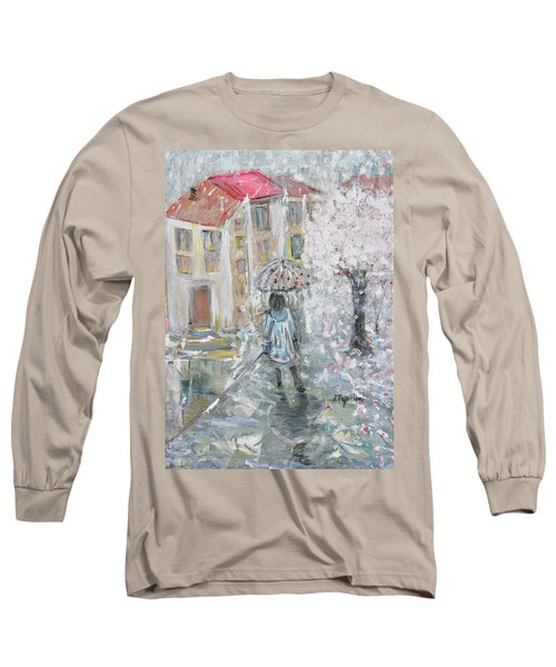 Long Sleeve T-Shirt featuring the painting Scent Of Spring by Evelina Popilian