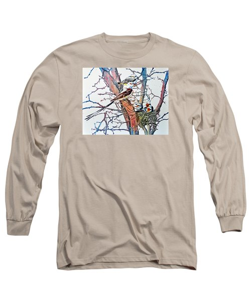 Da149 Scissortailed Flycatchers By Daniel Adams Long Sleeve T-Shirt