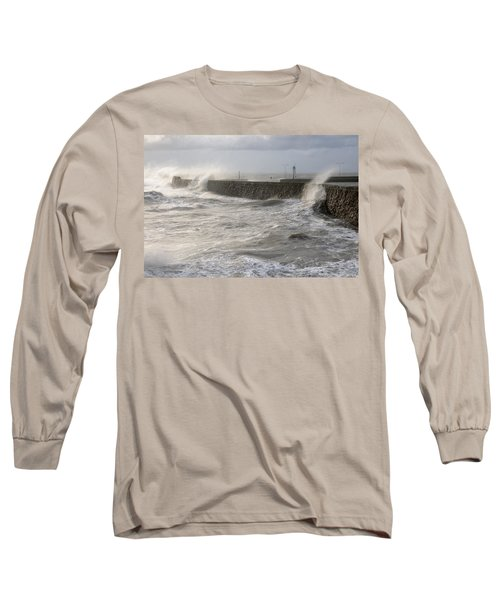 Long Sleeve T-Shirt featuring the photograph Scottish Sea Storm by Jeremy Voisey