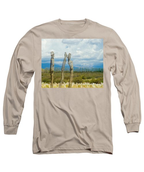 Sculpture In The Andes Long Sleeve T-Shirt
