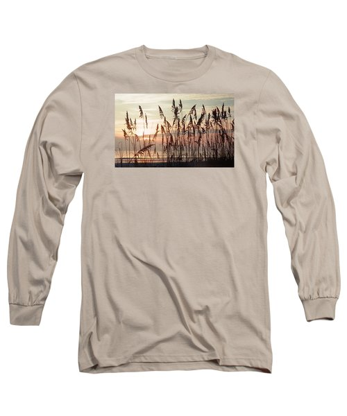Long Sleeve T-Shirt featuring the photograph Spectacular Sea Oats At Sunrise by Belinda Lee