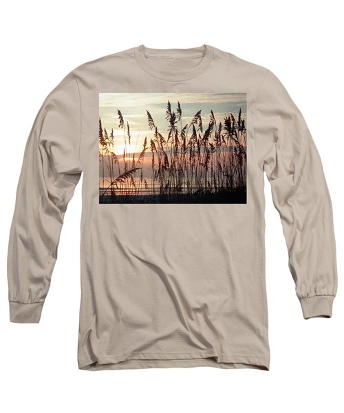 Fabulous Blue Sea Oats Sunrise Long Sleeve T-Shirt