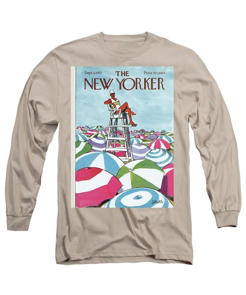 Sea Of Umbrellas Long Sleeve T-Shirt
