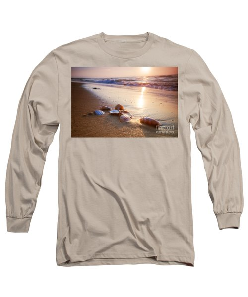 Sea Shells On Sand Long Sleeve T-Shirt