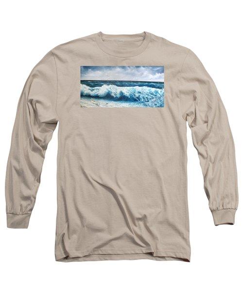 Seagulls Long Sleeve T-Shirt by Katia Aho