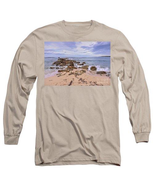 Seascape With Rocks Long Sleeve T-Shirt