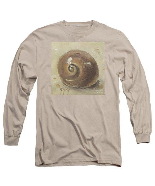 Seashell Beach Moon Shell Snail  Long Sleeve T-Shirt by Mary Hubley