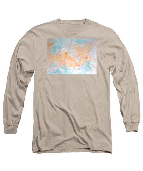 Long Sleeve T-Shirt featuring the painting Seaside In Summer by Esther Newman-Cohen