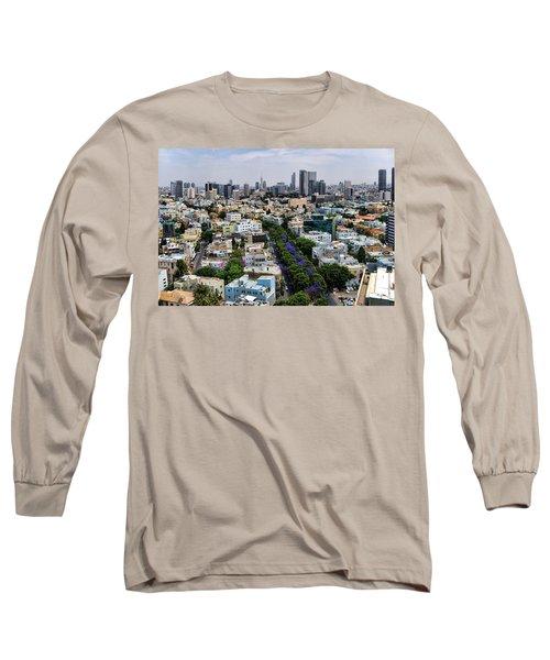 season change at Rothschild boulevard  Long Sleeve T-Shirt