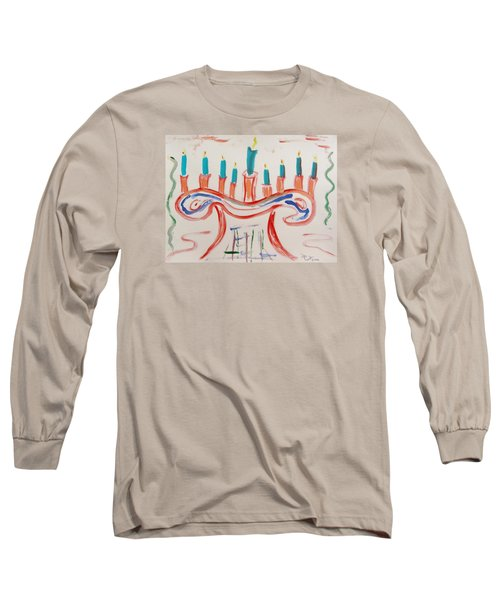 Long Sleeve T-Shirt featuring the painting Season Of The Lights by Mary Carol Williams