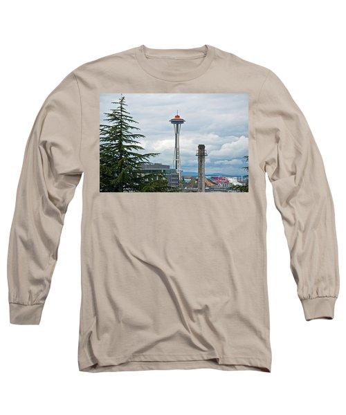 Seattle Spaceneedle Golden Anniversary Art Prints Long Sleeve T-Shirt