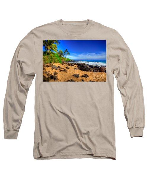 Secret Beach Maui Long Sleeve T-Shirt by Kelly Wade
