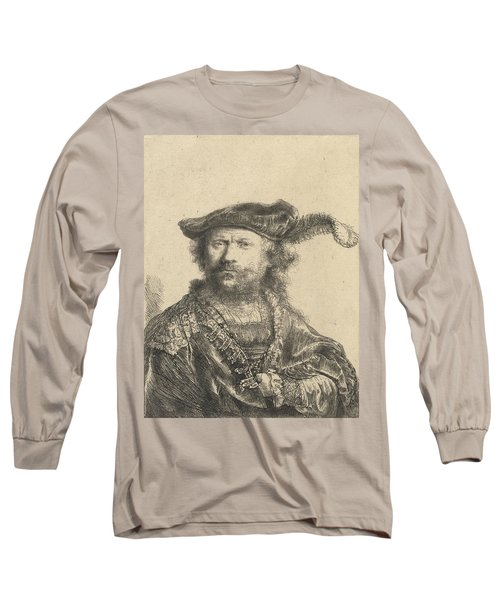 Self Portrait In A Velvet Cap With Plume Long Sleeve T-Shirt