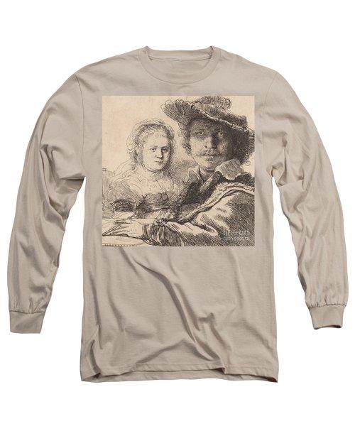 Self Portrait With Saskia Long Sleeve T-Shirt