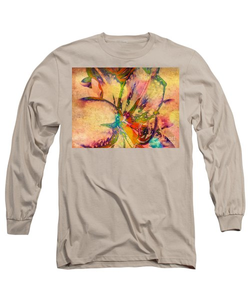 Springtime Floral Abstract Long Sleeve T-Shirt