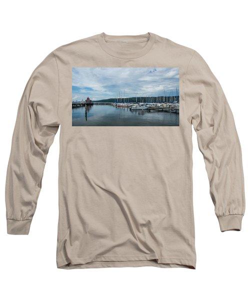 Seneca Lake Harbor - Watkins Glen - Wide Angle Long Sleeve T-Shirt