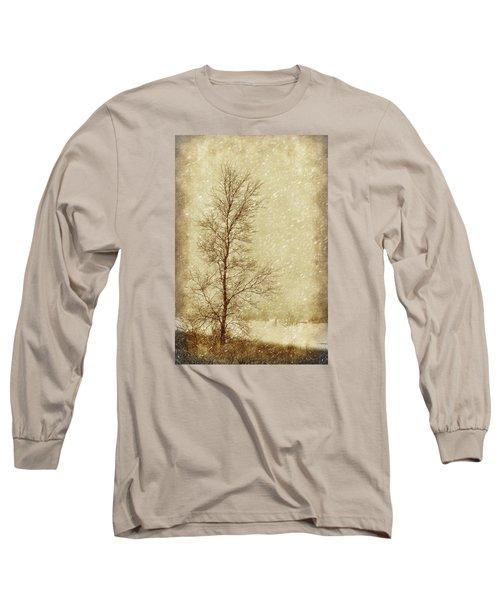 Sentinel Tree In Winter Long Sleeve T-Shirt by Nikolyn McDonald