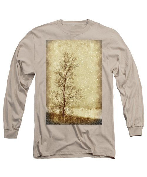 Sentinel Tree In Winter Long Sleeve T-Shirt