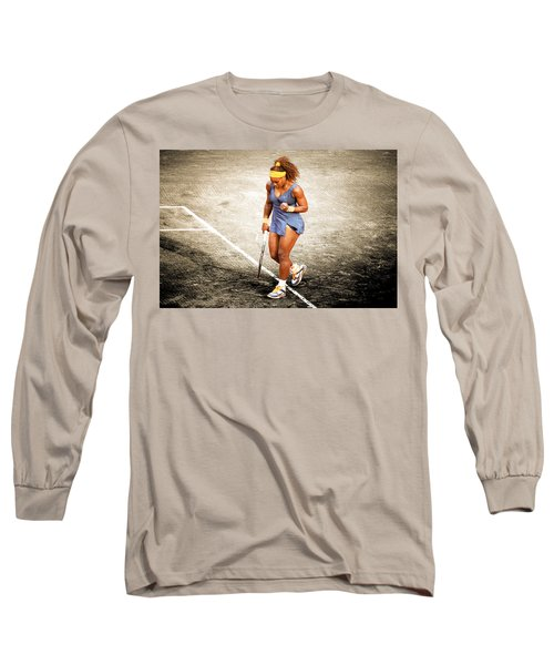 Serena Williams Count It Long Sleeve T-Shirt by Brian Reaves
