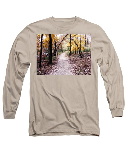 Long Sleeve T-Shirt featuring the photograph Serenity Walk In The Woods by Peggy Franz