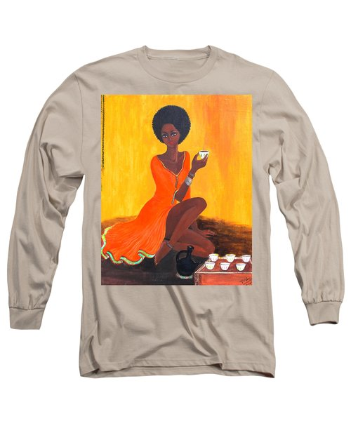 Serving Coffee Long Sleeve T-Shirt
