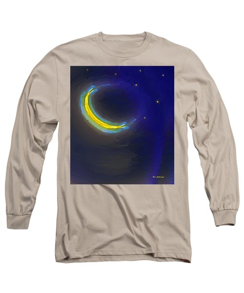 Seven Stars And The Moon Long Sleeve T-Shirt by RC deWinter