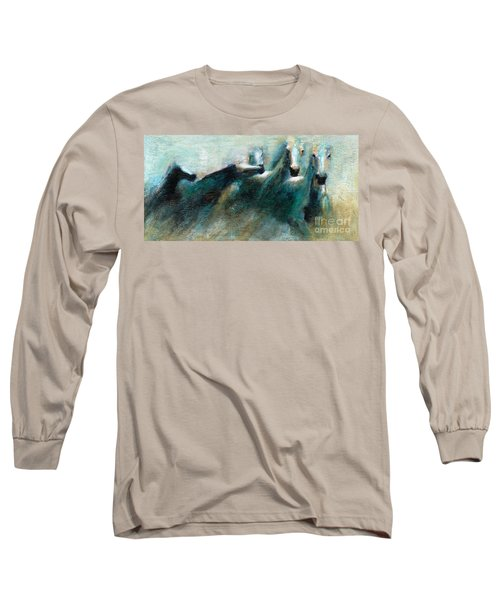 Shades Of Blue Long Sleeve T-Shirt