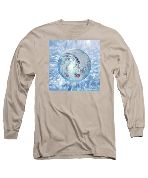 Long Sleeve T-Shirt featuring the painting Shades Of Winter by Robin Moline