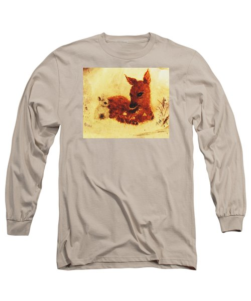 Long Sleeve T-Shirt featuring the painting Sharing Secrets by Hazel Holland