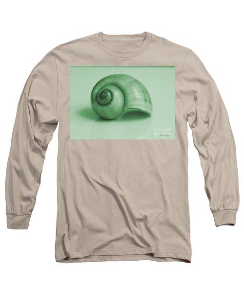 Shell. Light Green Long Sleeve T-Shirt