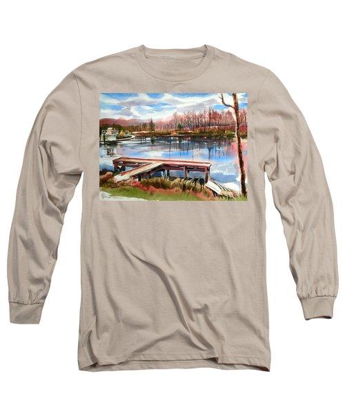 Shepherd Mountain Lake In Winter Long Sleeve T-Shirt