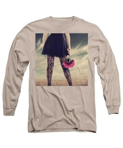 She's Got Legs Long Sleeve T-Shirt by Linda Lees