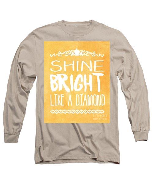 Shine Bright Orange Long Sleeve T-Shirt by Pati Photography